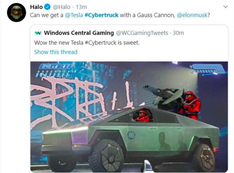 cybertruck halo meme