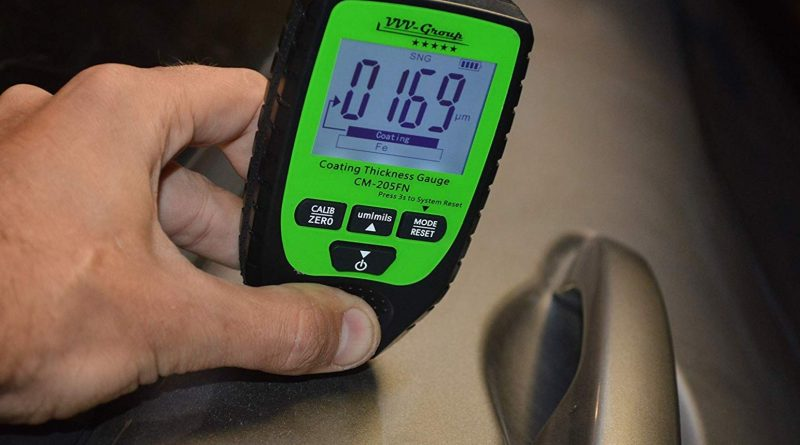 coating thickness meter in action